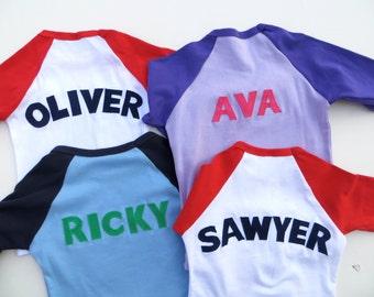 Personalized Add NAME -Monogram, Nickname, Initials, Baseball Shirt