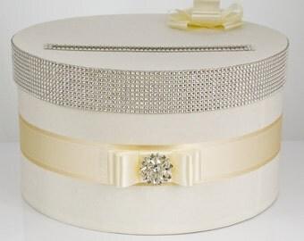 Card box / Wedding Box / Wedding money box - ecru/gold
