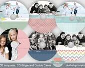 6 Photographer CD  templates Set 5- Just the cd designs, cd templates, whcc, photographer cd templates, psd templates