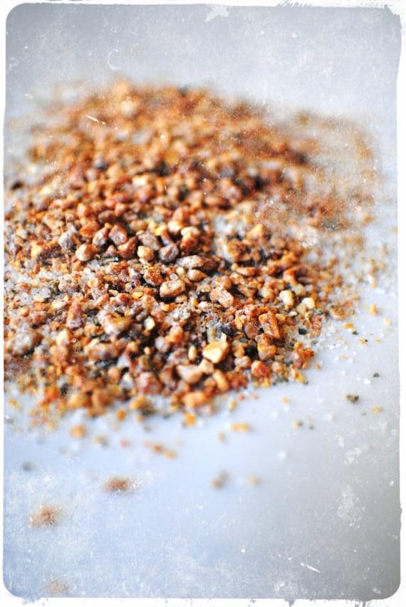 Finishing Salt, Basil Orange Gourmet Sea Salt, Okinawa Sea Salt infused with spices, herbs and seasonings