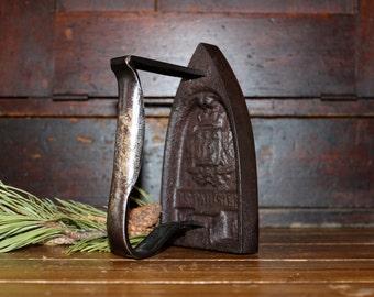 Antique French Sad Iron Parisien Cast Iron
