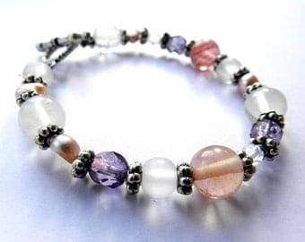Sophie: Tourmaline and pearls bracelet
