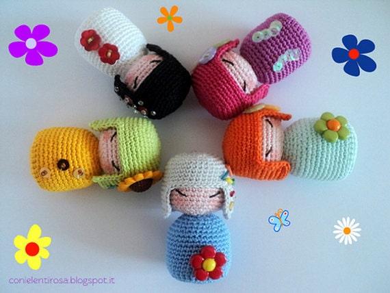 Amigurumi Tutorial Ita : Items similar to amigurumi crochet pattern spring kokeshi