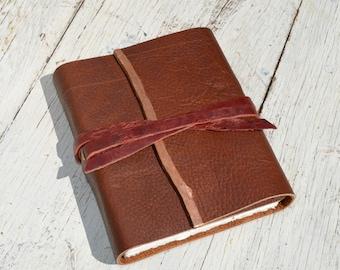 Handmade Bound Leather Journal Diary Western Adventure Rocky Mountain Custom Order (204B)