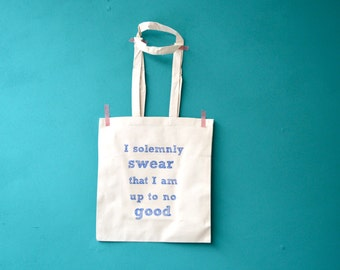 Harry Potter bag - I solemnly swear that I am up to no good tote - shopping bag