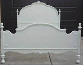 Charming Shabby Cottage Chic full bed frame