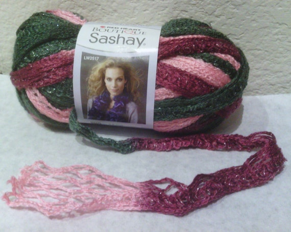 Crochet Scarf Pattern Using Red Heart Sashay : 301 Moved Permanently