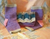 Purple Passion pedicure socks with matching carrying pouch