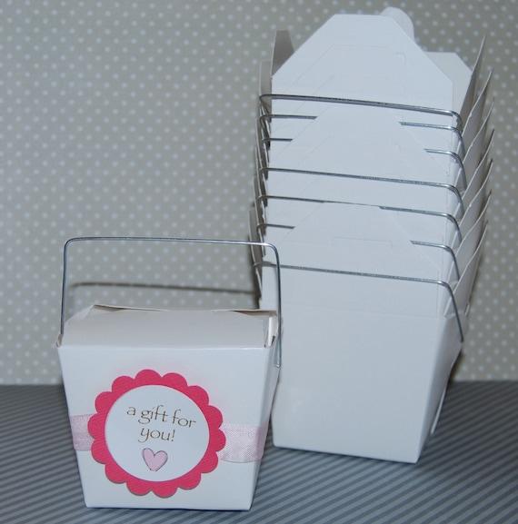 10 Take Out Boxes Party Box White Medium Pint Size 16 Oz