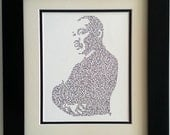 Personalized Martin Luther King Jr. Original Hand Drawn Picture/Image Calligram