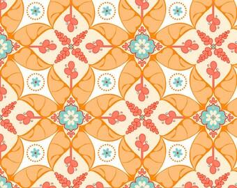 Calliope Scroll in Orange from RIley Blake Fabrics 1 Yard Cut