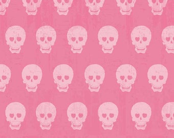 Skulls in Pink Geekly Chic by  Riley Blake Designers 1/2 Yard Cut