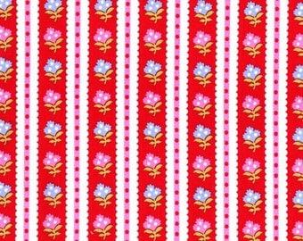 Striped Garden Red from Cynthia Rowley 1 Yard Cut