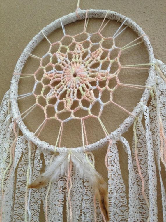 Dreamcatcher 9 crochet center lace ribbon for Dreamcatcher weave patterns