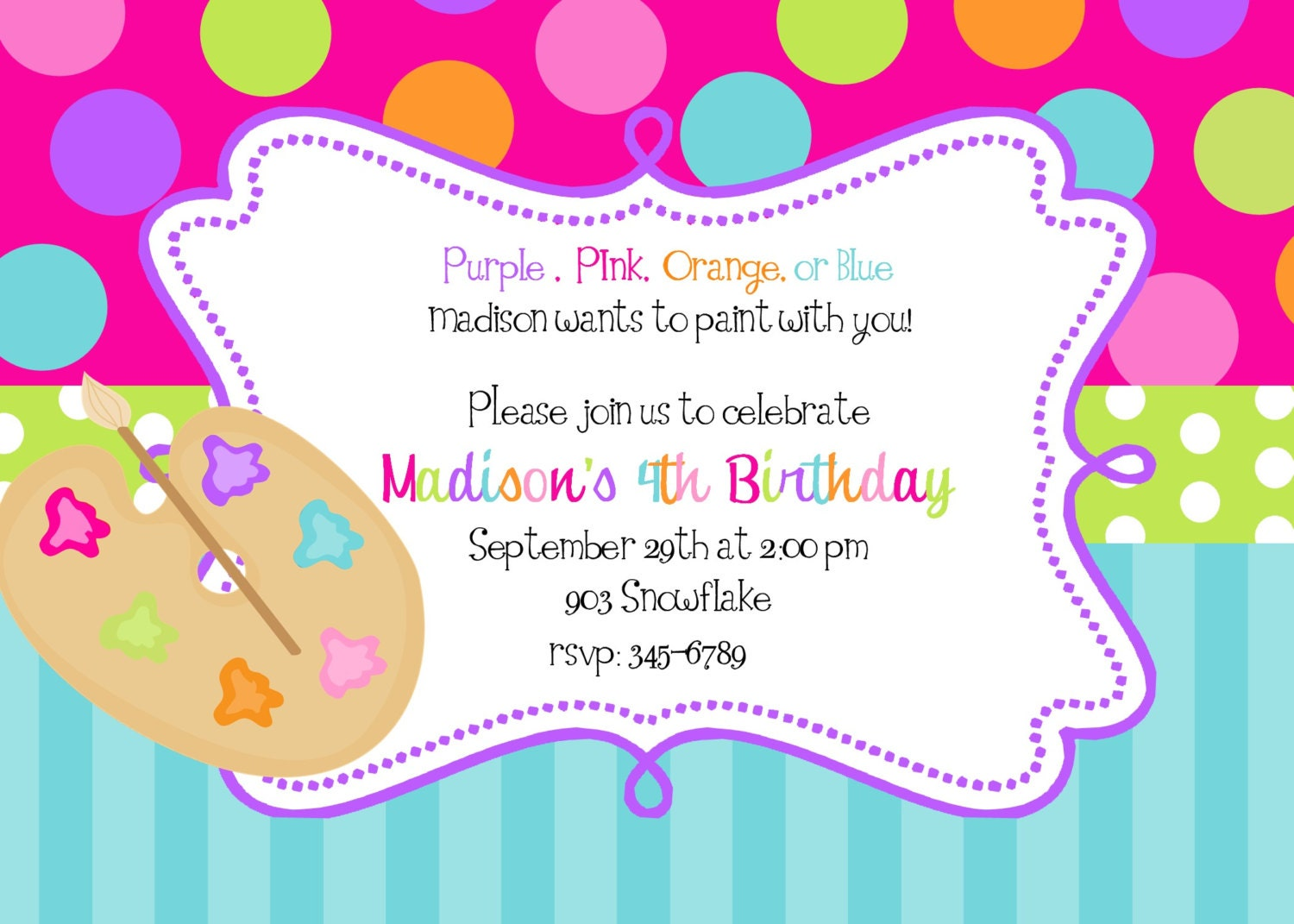 Art Birthday Party Invitations can inspire you to create best invitation template