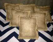 Jewelry Display Mini Burlap Pillows