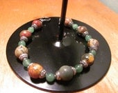 Beaded Bracelet with Toggle Clasp