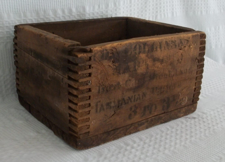 Antique Wooden Box Collins Tasmania Porter Chestnut Hill