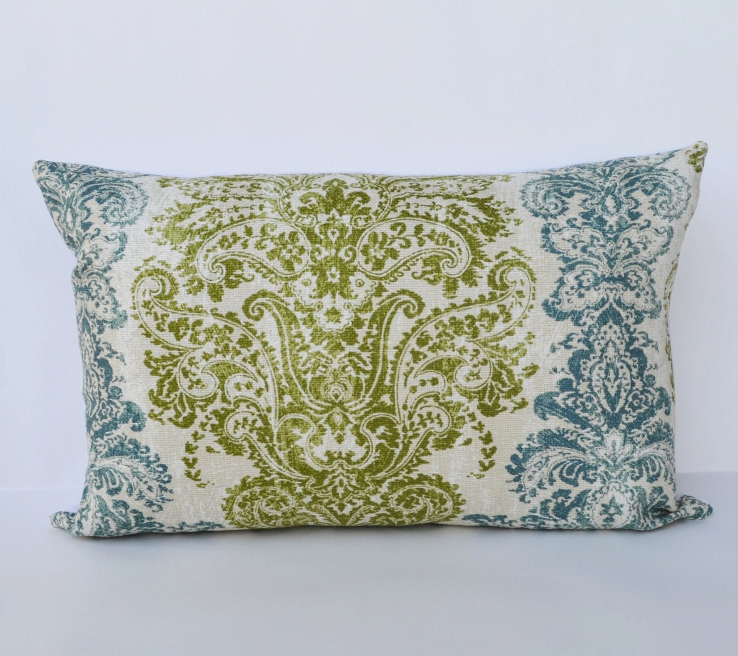 Decorative Pillows 12x18 teal green distressed wallpaper