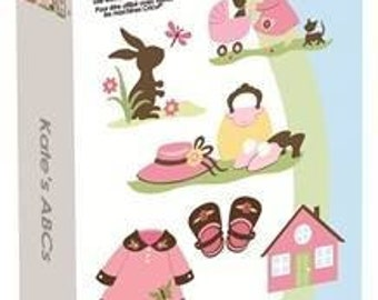 Cricut Cartridge - KATES ABCs - New and In STock - Limited Supply -LITTLe GIRL Theme - So CUTE