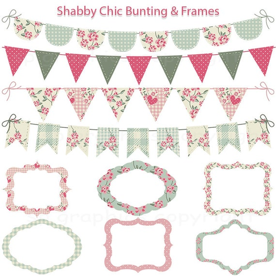 shabby chic bunting - photo #15