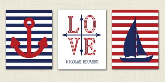 Italian Boy Name: Items Similar To Nautical Nursery Art 8x10 Nautical Prints