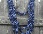 Blue Infinity Rope Scarf