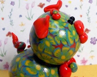 Giggles Polymer Clay Figurine