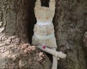 Kiku - Stuffed Fabric Doll