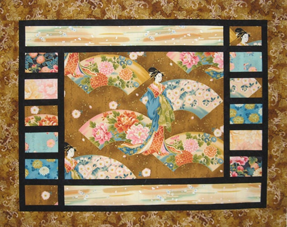 Items similar to Center Stage Asian Quilt Pattern Mountainpeek Creations DIY Great for Panels ...