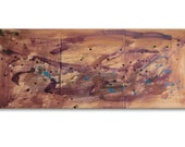 """Original, Abstract Encaustic Painting, 3 Panels: """"Get Together"""" by Erica Vitalia"""