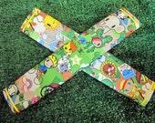 Sale!!NYLON & Water Repellent FRIDGE HANDLE Cover, Anime Green print, Free Shipping