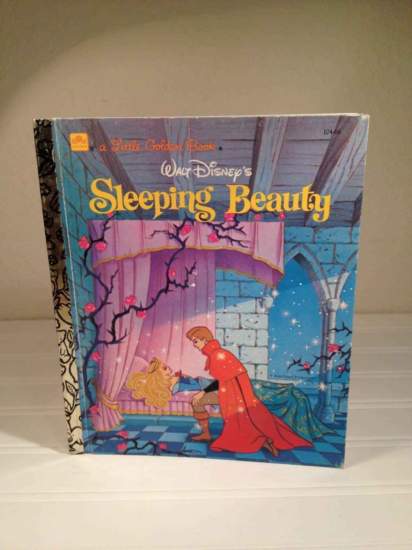 Sleeping Beauty A Little Golden Book 1986 Vintage Walt