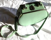 Turquoise Vintage Cosmetic Carrier or Non-Traditional Purse