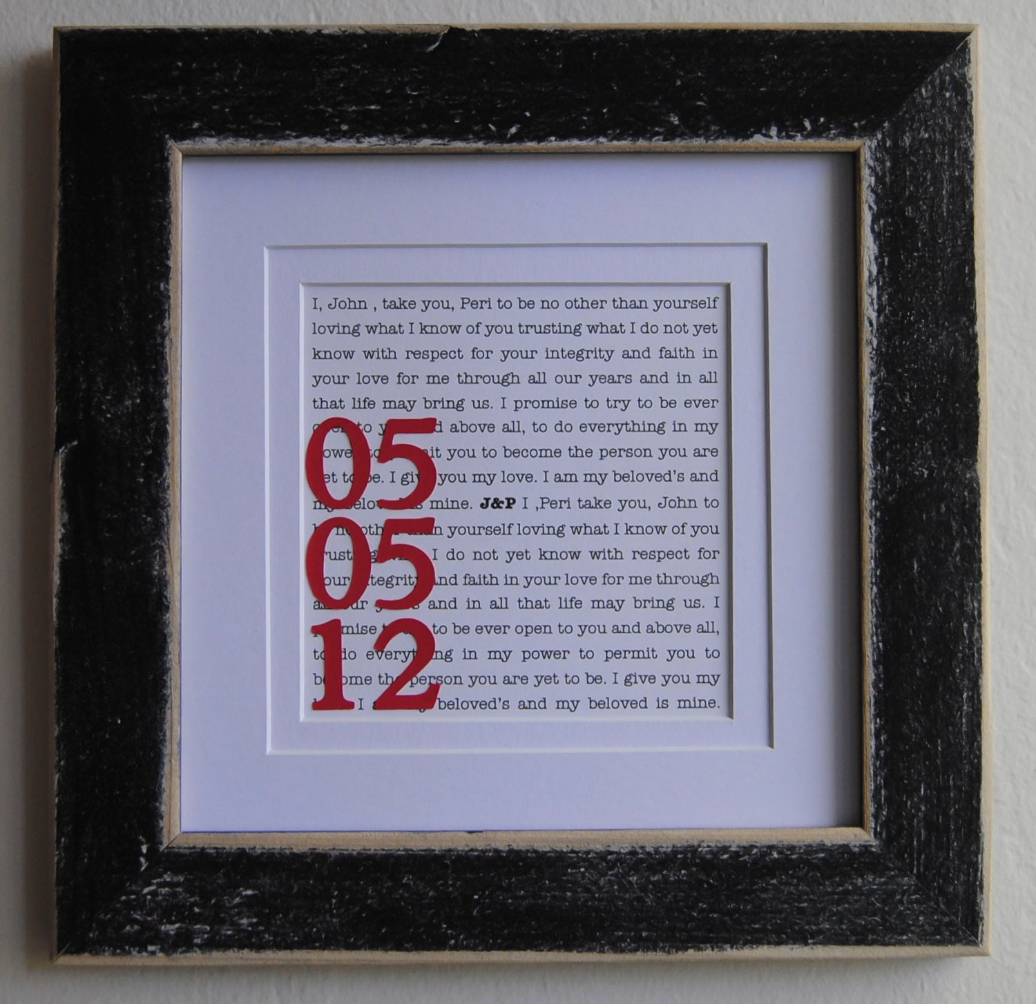 Unique First Wedding Anniversary Gifts: Personalized Wedding Gift/ Engagement Gift/ By