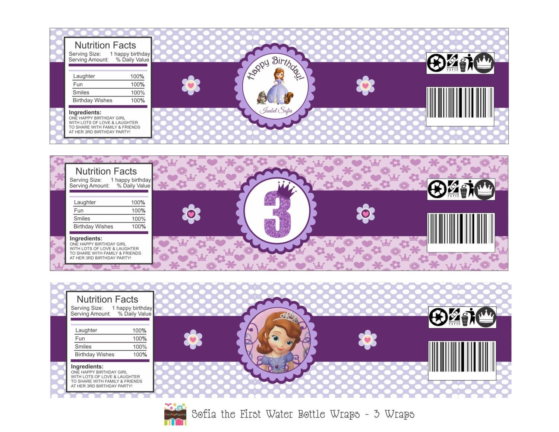 Water Bottle Labels 3