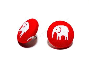 Small Delta Sigma Theta Button Earrings