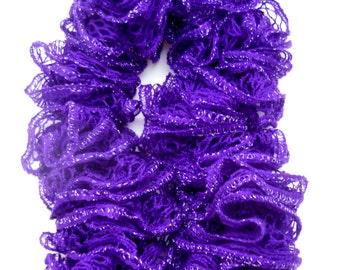 Purple Sashay Ruffle Scarf