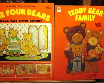 1980 Whitman UNCUT Bear Paper Doll Books