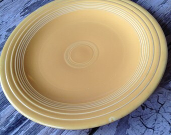 Vintage original Fiestaware yellow 10 1/2 inch plate