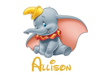 Disney Dumbo Personalized Custom Iron on Transfer Decal(iron on transfer, not digital download)