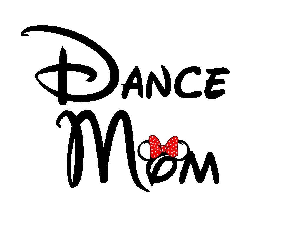 World Of Dance Font: Dance Mom Disney Minnie-ized Custom Iron On Transfer