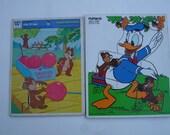 Vintage Playskool Donald Duck & Chip 'N' Dale Puzzles