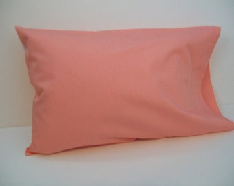 Organic Toddler Pillowcase, Travel Pillowcase Cotton Pillowcase, Coral Pillowcase, Organic, Pillow Case, Girl
