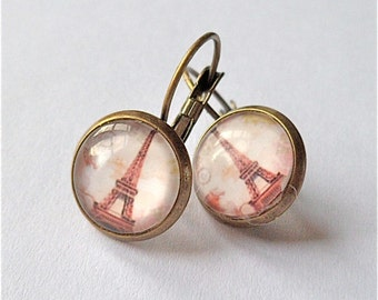 Eiffel Tower Paris earrings holiday romance travel