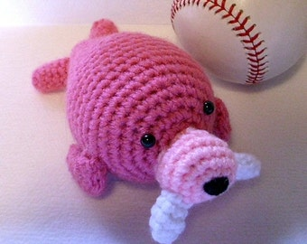Stuffed Toy Walrus Amigurumi Pink