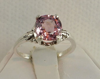 2.16 Ct. Ceylon Spinel -  Sterling Silver NEW Vintage Ring - RING SIZE 6 1/4