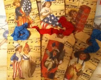 Vintage Style Patriotic Tags