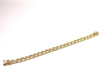 Beautiful 1960's 14k Yellow Gold Charm Bracelet 5.7 Grams - Add your own Charms!