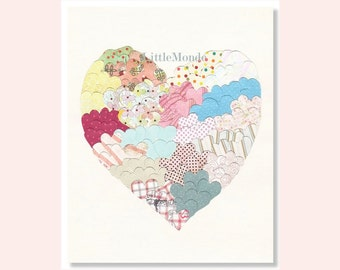 Baby Girl Nursery Prints, NURSERY ART Prints, Nursery Wall Decor, Pastel Pink Nursery Decor, Baby Shower Gift, Soft Pastel Nursery Art